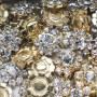 Lot de 10pcs - Strass perle avec couronne d'imitation diamants