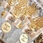 Lot de 5pcs - Strass fleurs imitation diamant